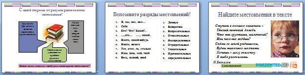 Слайды презентации: Местоимение как часть речи