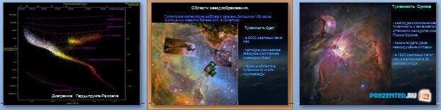 Слайды презентации: Эволюция звезд