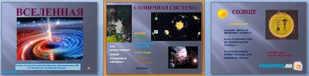 Слайды презентации: Вселенная