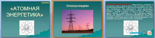 Слайды презентации: Атомная энергетика