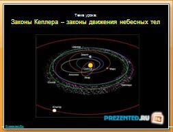 Законы Кеплера – законы движения небесных тел