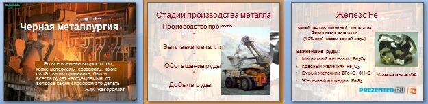 Слайды презентации: Черная металлургия