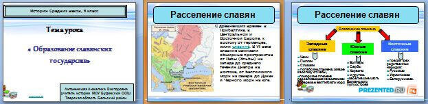 Слайды презентации: Образование славянских государств