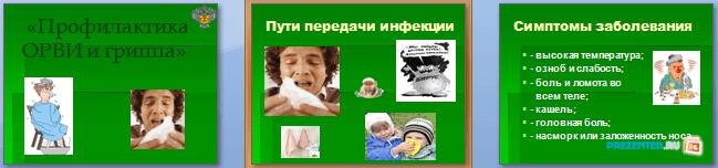 Слайды презентации: Профилактика ОРВИ и гриппа