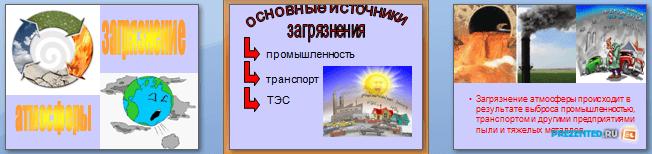 Слайды презентации: Загрязнения атмосферы