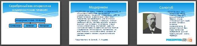 Слайды презентации: Серебряный век. Современная русская проза и поэзия