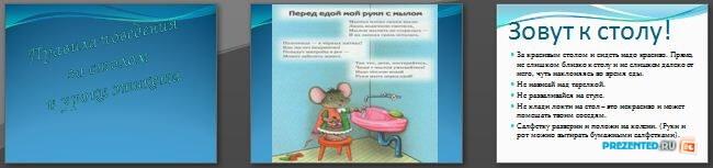 Слайды презентации: Правила поведения за столом и уроки этикета