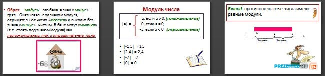 Слайды презентации: Модуль числа