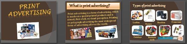 Слайды презентации: PRINT ADVERTIZING (Печатная реклама)