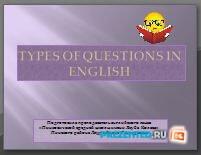 Типы вопросительных предложений (Types of questions in English)