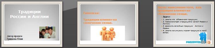 Слайды презентации: Традиции России и Англии