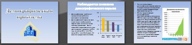 Слайды презентации: Демографическая проблема