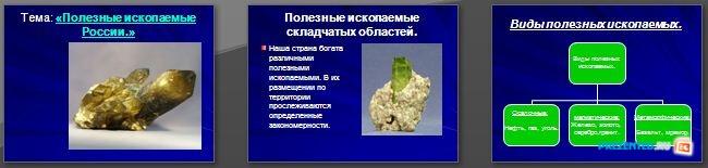 Слайды презентации: Полезные ископаемые России