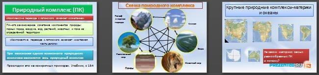Слайды презентации: Природные комплексы Земли
