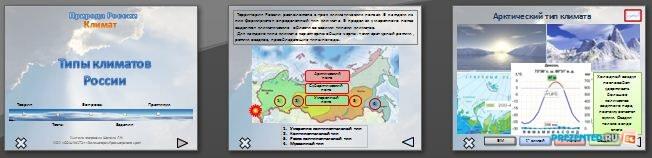 Слайды презентации: Типы климатов России