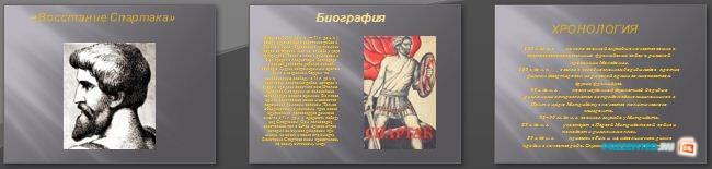 Слайды презентации: Восстание Спартака