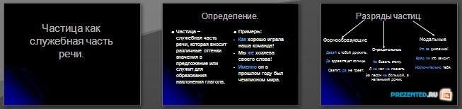 Слайды презентации: Частица как служебная часть речи