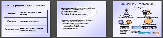 Слайды презентации: Познание