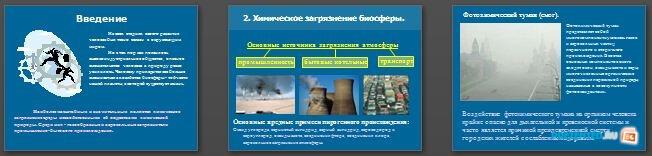 Слайды презентации: Химическое загрязнение среды промышленностью