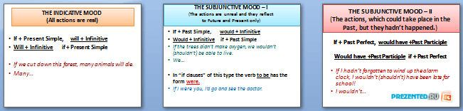 Слайды презентации: The subjunctive mood