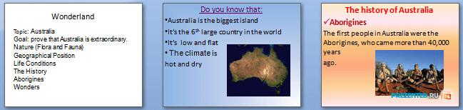 Слайды презентации: Австралия (Australia)