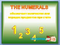 Имя числительное (The numerals)