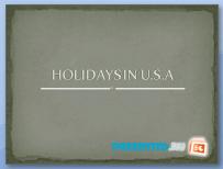 Праздники в США (Holidays USA)