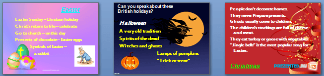Слайды презентации: Праздники и фестивали в Британии (English holidays and festivals)