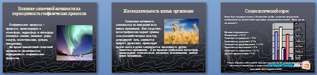 Слайды презентации: Влияние солнечной активности