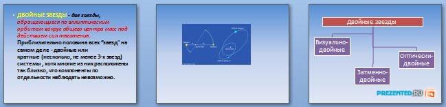 Слайды презентации: Двойные звезды и масса звезд