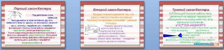 Слайды презентации: Законы движения планет