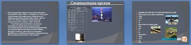 Слайды презентации: Космодромы Байконур и Плесецк