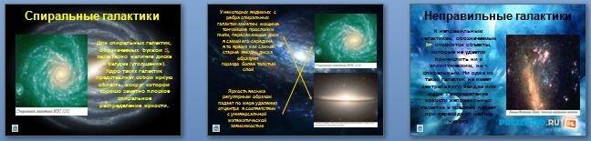 Слайды презентации: Мир Галактик. Типы и эволюция