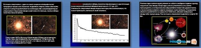 Слайды презентации: Новые и сверхновые звезды. Физические переменные