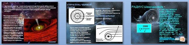 Слайды презентации: Черные дыры в космическом пространстве
