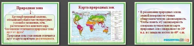 Слайды презентации: Природная зональность
