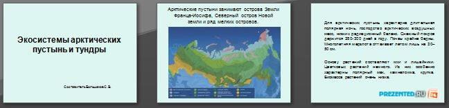 Слайды презентации: Экосистемы арктических тундр и пустынь