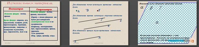 Слайды презентации: Аксиомы стереометрии и их следствия