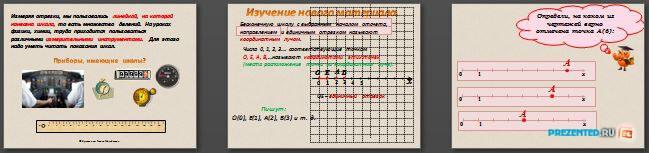 Слайды презентации: Шкалы и координаты