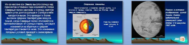 Слайды презентации: Планета Земля