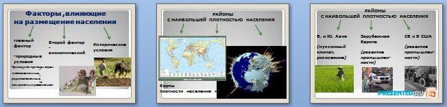 Слайды презентации: Размещение и плотность населения. Миграция