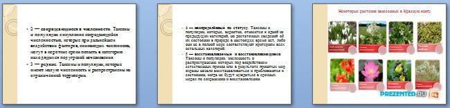 Слайды презентации: Красная книга России