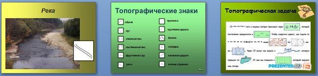 Слайды презентации: Условные знаки на топографической карте