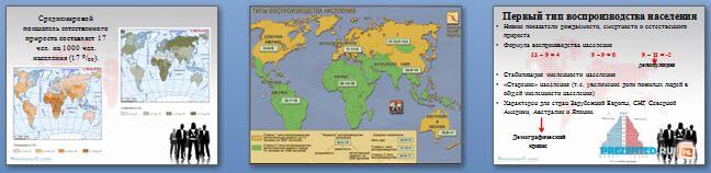 Слайды презентации: Численность и воспроизводство населения мира