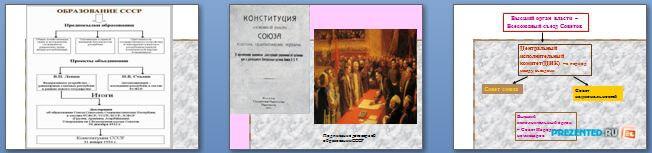 Слайды презентации: Образование СССР