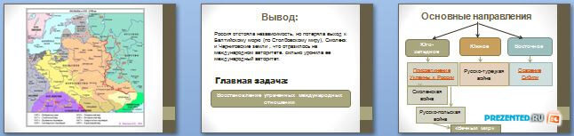 Слайды презентации: Внешняя политика России в XVII в.