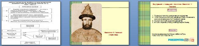 Слайды презентации: Московское княжество в первой половине XV века