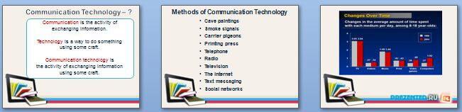 Слайды презентации: Коммуникационные технологии (Communication technologies)