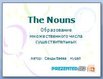 Образование множественного числа существительных (The Nouns)