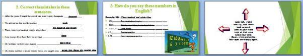 Слайды презентации: Числительные (The numerals)